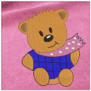 Teddy Bear embroidery on pink