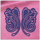 Butterfly embroidery on pink