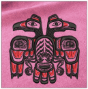 Eagle embroidery on pink