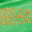 Ornament embroidery on green