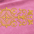 Ornament embroidery on pink