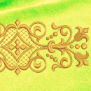 Ornament embroidery on yellow