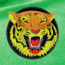 Tiger embroidery on green