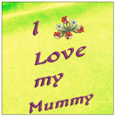 I love my mummy - Mother day embroidery on yellow