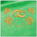 Wedding embroidery on green