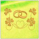 Wedding embroidery on yellow