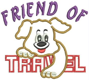 Friend of Travel embroidery design