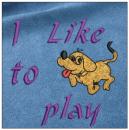 I like to play embroidery on blue