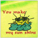 You make my sun shine embroidery on yellow