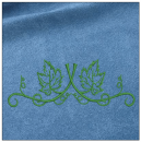 Floral Border embroidery on blue