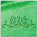 Floral Border embroidery on green