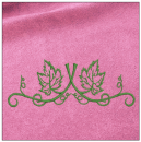 Floral Border embroidery on pink