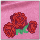 Roses embroidery on pink