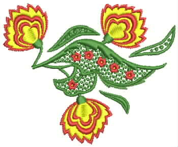 Floral Composition embroidery design
