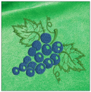 Grapes embroidery on green