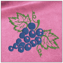 Grapes embroidery on pink