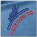 Taekwondo embroidery on blue