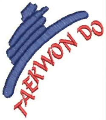 Taekwondo embroidery design