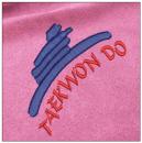 Taekwondo embroidery on pink