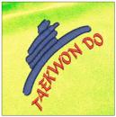 Taekwondo embroidery on yellow